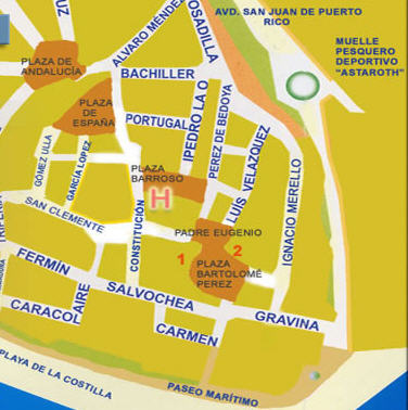 Plano de acceso de Hotel Hostal Sixto