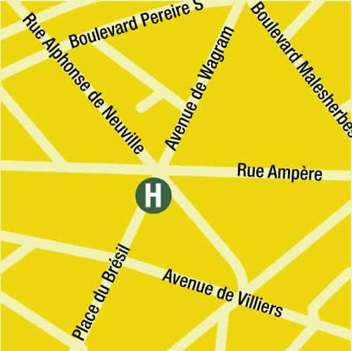 Plano de acceso de Bw. Hotel Mercedes