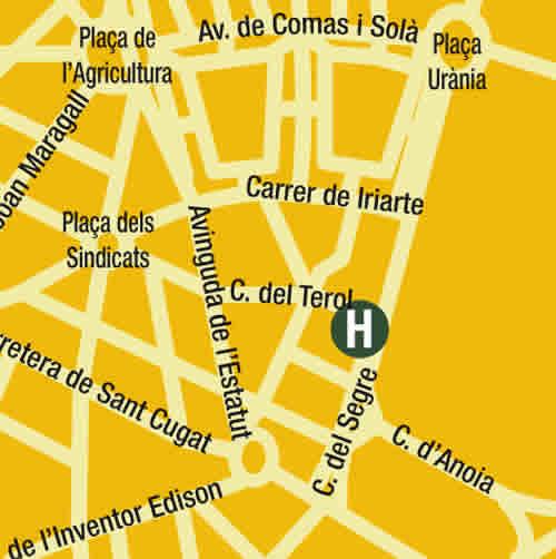 Plano de acceso de Hotel Sant Pere 2
