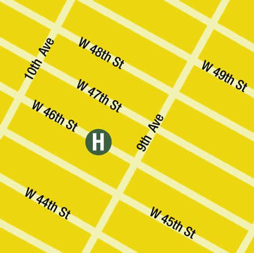 Plano de acceso de 414 Hotel