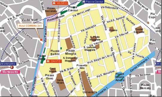 Plano de acceso de Hotel Correra 241