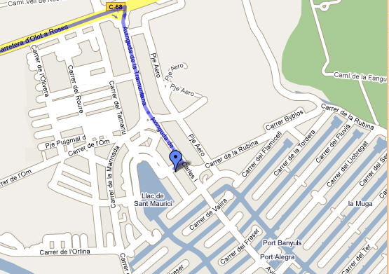 Plano de acceso de Hotel Maurici Park
