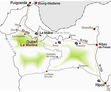 Plano de acceso de Hotel Resort Guitart La Molina