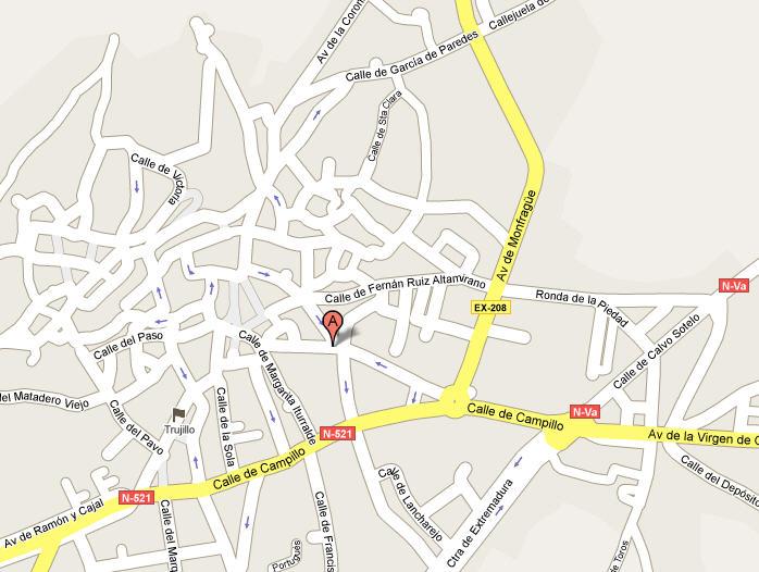 Plano de acceso de Hotel Hostal San Miguel