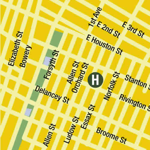 Plano de acceso de Hotel Comfort Inn Lower East Side