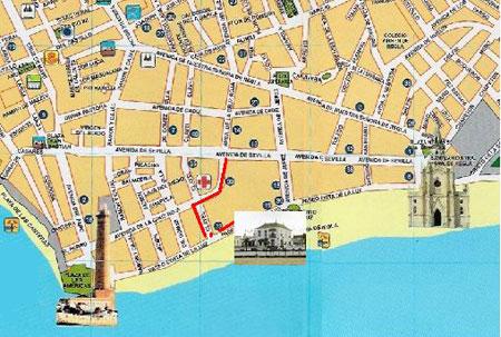 Plano de acceso de Hotel Playa De Regla