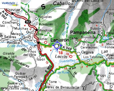 Plano de acceso de Hotel Andalucia