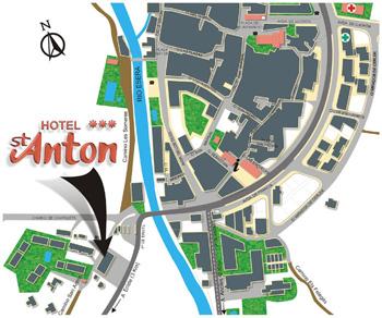 Plano de acceso de Hotel San Anton