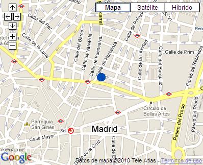 Plano de acceso de Hotel Hostal Hispano Argentino