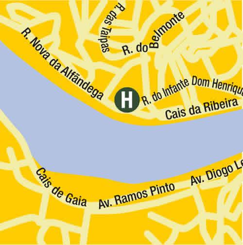 Plano de acceso de Hotel Carris Ribeira