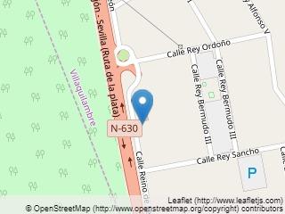 Plano de acceso de Hotel Santiago Leon