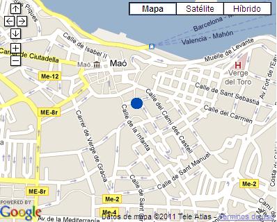 Plano de acceso de Hotel San Miguel