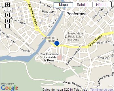 Plano de acceso de Hotel El Castillo