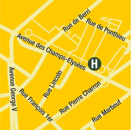 Plano de acceso de Hotel Fraser Suites Le Claridge