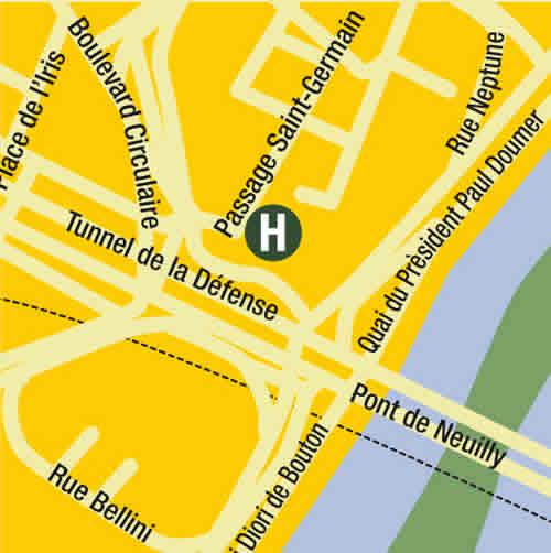 Plano de acceso de Hotel Fraser Suites Harmonie