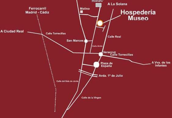 Plano de acceso de Hotel Hospederia Museo Valdepeñas