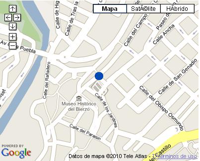 Plano de acceso de Hotel Aroi Bierzo Plaza
