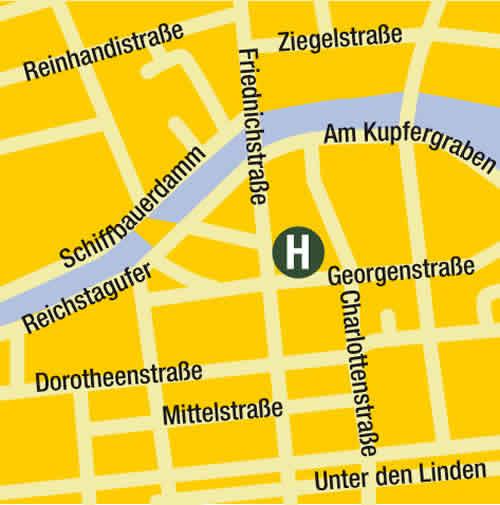 Plano de acceso de Hotel Eurostars Berlin