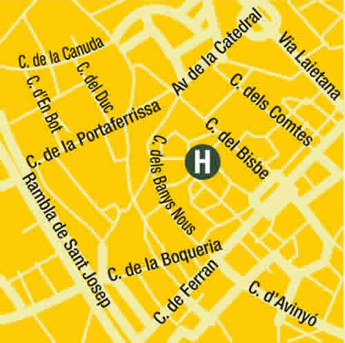Plano de acceso de Hotel Neri H And R