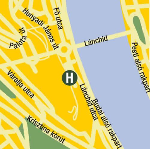 Plano de acceso de Lanchid 19 Design Hotel