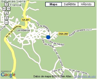 Plano de acceso de Hotel Doña Teresa