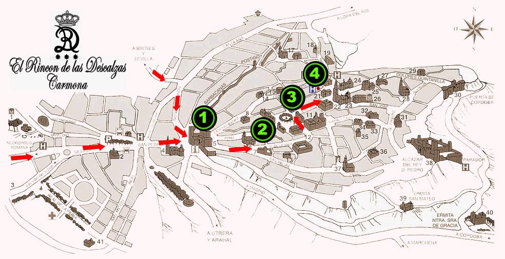 Plano de acceso de Hotel El Rincon De Las Descalzas