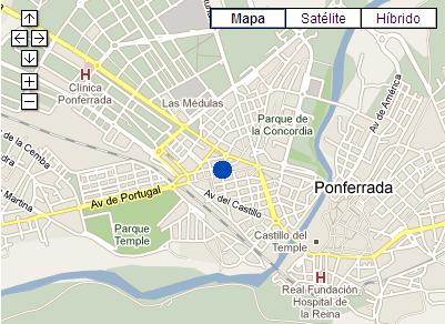 Plano de acceso de Hotel Aroi Ponferrada