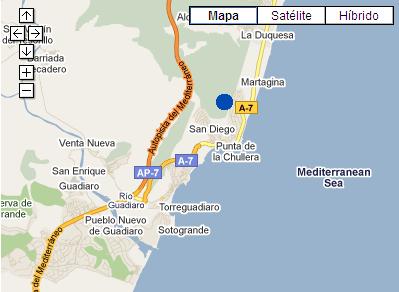 Plano de acceso de Hotel Terrazas Costa Del Sol