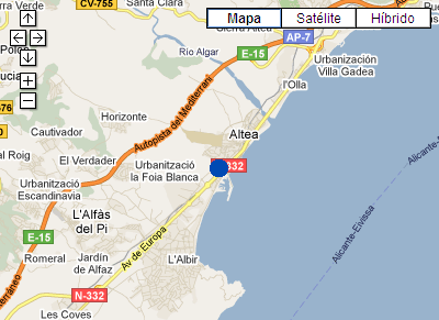 Plano de acceso de P And V Altea Beach Apartments