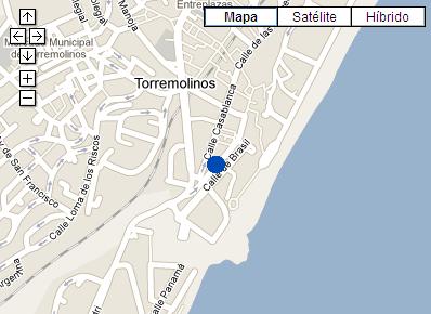Plano de acceso de Hotel P And V Maeva Torremolinos