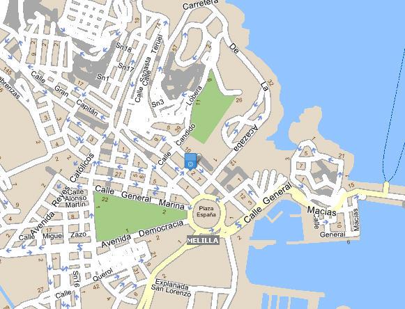 Plano de acceso de Hotel Anfora