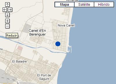 Plano de acceso de Hotel P And V Maeva Valencia Canet Playa