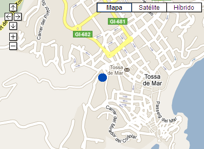 Plano de acceso de Hotel Maeva Villa Romana Resort
