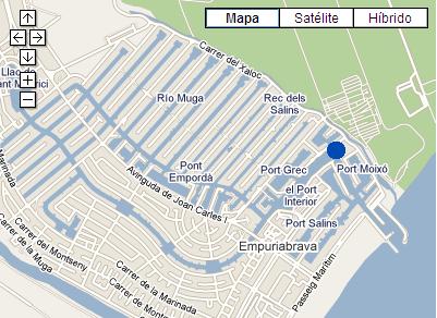 Plano de acceso de Hotel P And V Empuriabrava Marina