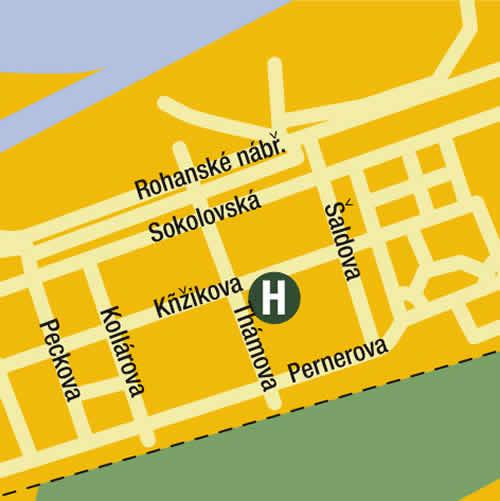Plano de acceso de Hotel Residence 3Domy