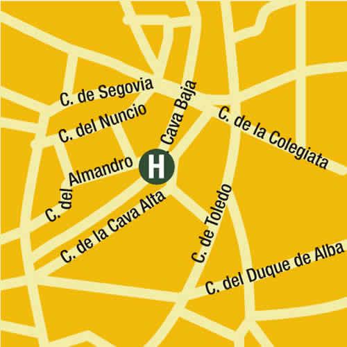 Plano de acceso de Hotel Posada Del Leon De Oro