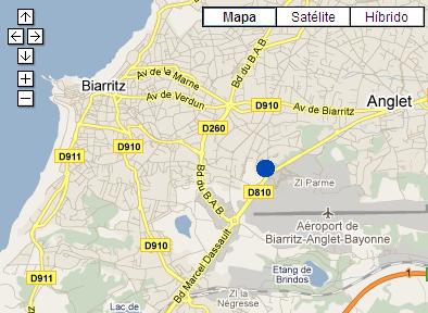 Plano de acceso de Hotel Amarys Biarritz