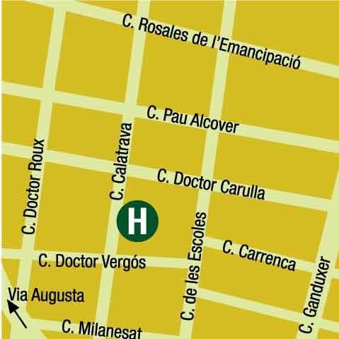 Plano de acceso de Hotel Husa Tres Torres