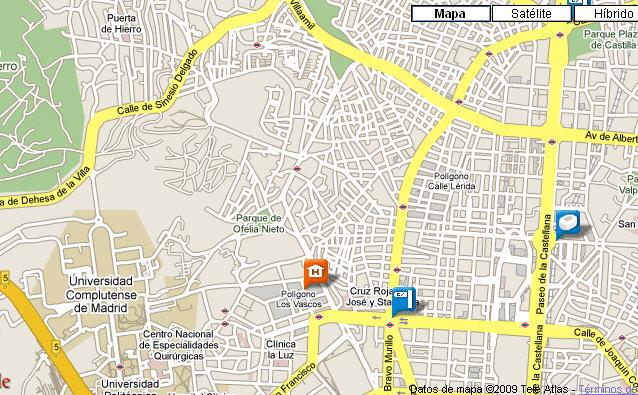 Plano de acceso de Hotel Ac Los Vascos