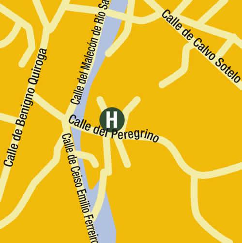 Plano de acceso de Hotel Carris Alfonso Ix