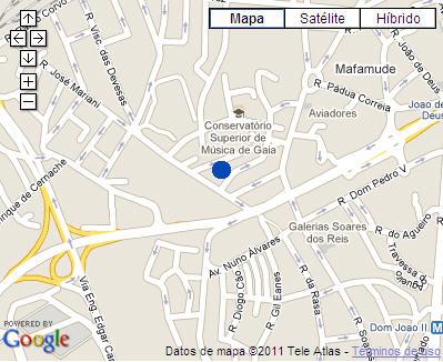 Plano de acceso de Hotel Holiday Inn Porto Gaia