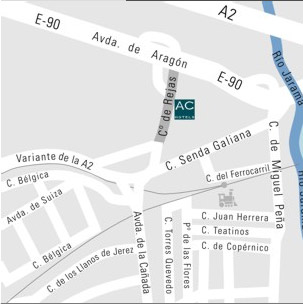 Plano de acceso de Hotel Ac Coslada Aeropuerto