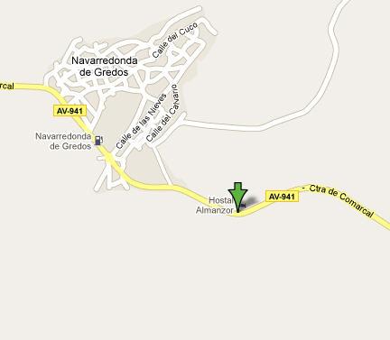 Plano de acceso de Hotel Hostal Almanzor
