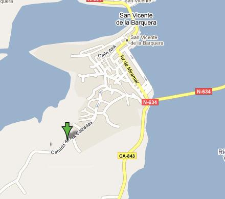 Plano de acceso de Hotel Las Calzadas