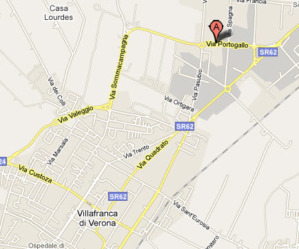 Plano de acceso de Hotel Expo Verona