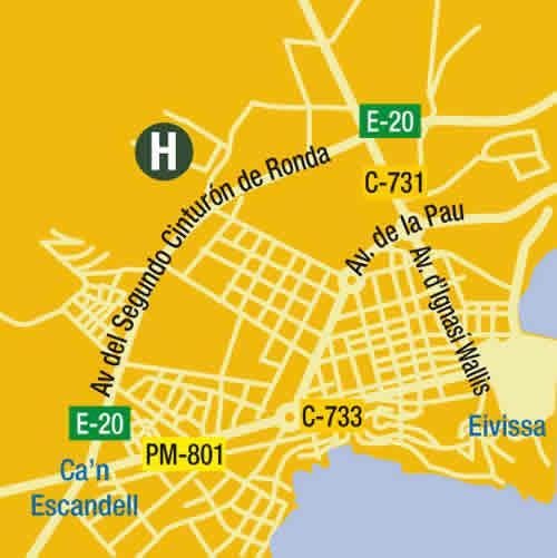 Plano de acceso de Hotel Es Trull De Can Palau