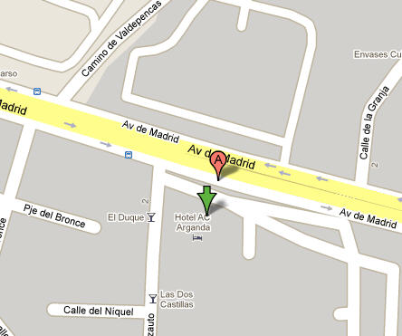 Plano de acceso de Hotel Ac Arganda