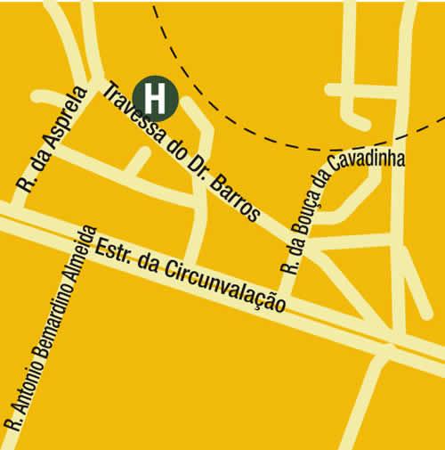 Plano de acceso de Hotel Eurostars Oporto