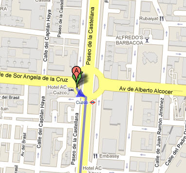 Plano de acceso de Hotel Ac Aitana