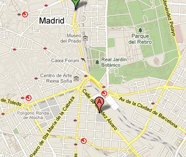 Plano de acceso de Hotel Ac Atocha